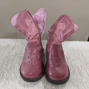 Circo Pink Cowboy Boots